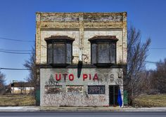 utopia / auto parts, Detroit, Michigan.....again postmodern... sometimes sarcastic, but always turning our assumptions about the modern world around