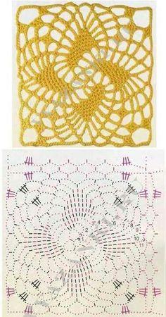 Knitulator sucht #GrannySquares: #Häkeln #Vierecke #Quadrate #Windmuehle #Häkelapp Mehr Ideen zum Häkeln und #Stricken www.Knitulator.com
