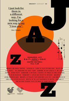 Jazz poster for Guimaraes festival, by Atelier Martino & Jana