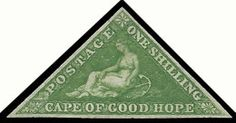 CAPE OF GOOD HOPE 1855 1/- BRIGHT YELLOW-GREEN MINT WITH CERT