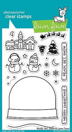 """Lawn Fawn /""""CHRISTMAS DREAMS /"""" Clear Photopolymer Stamps Set and Dies Bundle 2017"""
