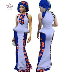 New Arrival Summer Women Dress Sexy Bodycorn African Dashiki Print Maxi Dress With Free Headwear African Dresses BRW African Fashion Dresses, African Dress, African Dashiki, Historical Clothing, Latest Fashion Trends, Sexy Dresses, One Piece, How To Wear, Clothes