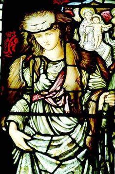 Stained glass window by Edward Burne-Jones, St Paul's Church, Irton, Cumbria