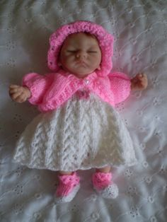 Lovely hand knitted 8 inch Ashton drake doll by cazjeanknitting, £5.50