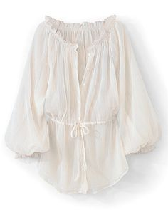 Basic poet's blouse. In cheesecloth, this one, I think. Looks comfy and light to wear.