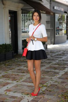 Black, White and Red Street Chic