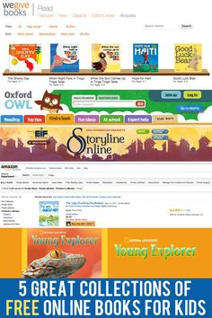 5 websites featuring great, free eBooks for children of all ages.