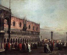 Francesco Guardi, Náměstí s dóžecím palácem, 1. polovina 60. let 18. století