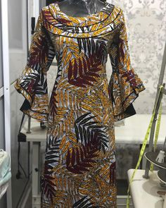 latest ankara styles for young and matured ladies Long African Dresses, Latest African Fashion Dresses, Latest Ankara Styles, African Print Dresses, African Print Fashion, African Attire, African Wear, African Blouses, African Traditional Dresses