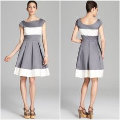 Gorgeous NWT kate spade ADETTE dress in white/grey This dress is absolutely gorgeous! And it's brand new with tags! It features a super flattering fit and the colors are so chic! Make this yours today! kate spade Dresses