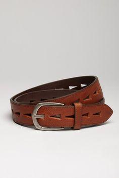 Tommy Bahama Leather Cutout Belt