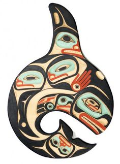 Creation of Killer Whale Panel by Odin Lonning - Click Image to Close