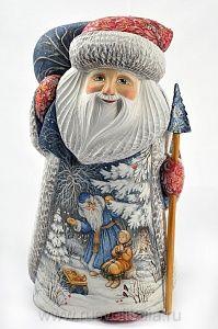 """Скульптура из дерева """"Дед Мороз из сказки """"Морозко"""""""