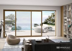 panoramic slinding door by Oknoplast  #home #decor #interior #ideas #homedecor #homedesign #inspiration #seeview #amazing #lineaNATURA # hst