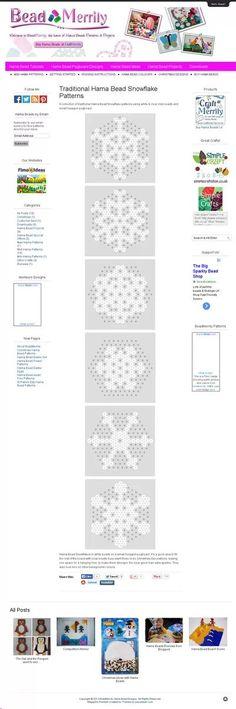 hama beads snowflake pattern - Buscar con Google