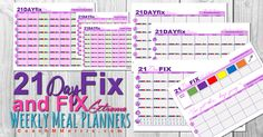 21 Day FIX & Fix EXTREME Weekly Meal Planners FREE Download! Let me know what you think!