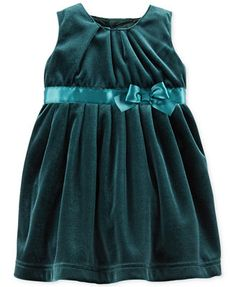 Carters Baby Girls Velour Bow Dress Newborn Dark Green ** Check out the image by visiting the link.