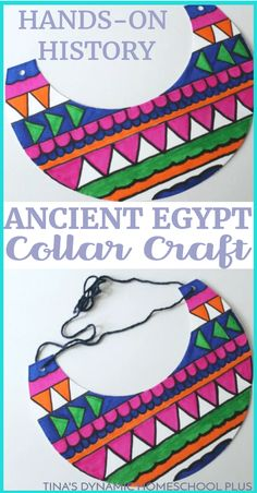 Ancient Egypt was one of the first civilizations to experience genuine prosperity. Because the people lived near a reliable water source, food was abundant for farming. And that left them plenty of time to indulge in a few luxuries, including elaborate hairstyles, culture, and jewelry. Click here to make this fun collar craft!