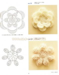 Esquemas de flores | SexyCrochet.COM