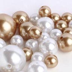 Easy Elegance WHITE  GOLD Pearl Beads w/FREE Jelly BeadZ ® Water bead gel pearls (..., http://www.amazon.com/dp/B00FGFHJJY/ref=cm_sw_r_pi_awdm_6yzJtb0XBXB4W