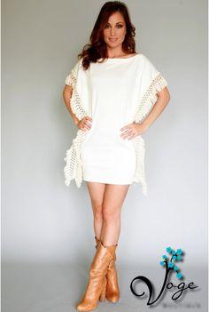 Fringe sided Basically Me dress coming to Voge Boutique! Order at www.facebook.com/VogeSA  $65