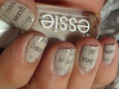 newpaper nails