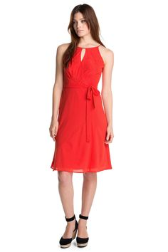 Esprit fijne crêpe-chiffon jurk COLLECTION kopen in de online shop