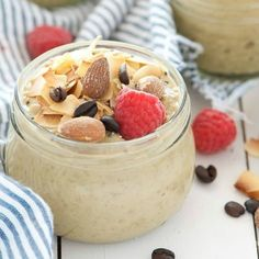 Almond, Coconut & Vanilla Latte Overnight Oats are worth getting out of bed for!