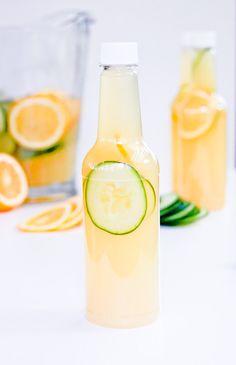 Cucumber Gin Lemonade - a portable punch!   Meghan Splawn of Stir & Scribble for Shop Sweet Lulu