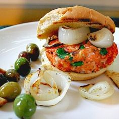 Kick up your next salmon burger with poblano peppers and pepper jack cheese.