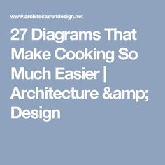 27 Diagrams That Make Cooking So Much Easier | Architecture & Design