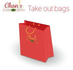 Chan's Asian Bistro. Mockup take out bag.