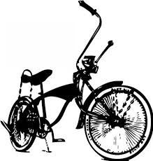 lowrider bicycle drawing - Google Search Bicycle Drawing, Bicycle Art, Wolf Paw Print, Lowrider Bicycle, Google Search, Drawings, Vehicles, Antique Bicycles, Party Stuff