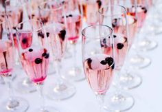 Tint the traditional champagne toast with a hint of color.