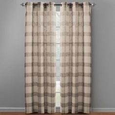 """One of my favorite discoveries at ChristmasTreeShops.com: 84"""" Plaid Grommet Top Window Curtains, Set of 2"""