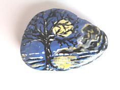 Hand Painted Acrylic Stone. A Cornish Summer's