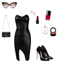 """Be elegant"" by atuholjakovic ❤ liked on Polyvore featuring Posh Girl, Yves Saint Laurent, Chanel, MAC Cosmetics, Kate Spade, Lana, Cutler and Gross, black, women and springfashion"