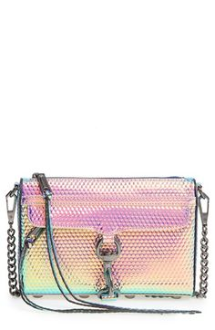 Free shipping and returns on Rebecca Minkoff Mini MAC Convertible Crossbody Bag at Nordstrom.com. Caution: wear this shimmering, iridescent crossbody only when you want to wow.