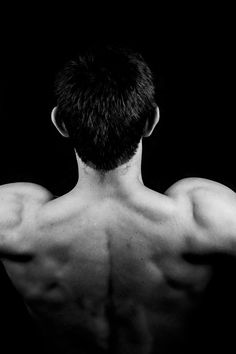 Man in Muscle Back View
