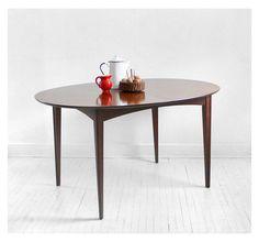 Vintage mid-century wood dining table.