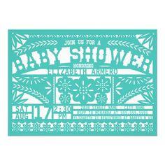 Papel Picado Fiesta Maragarita Themed Baby Shower Invitation