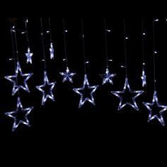 Christmas Star Lights Outdoor 138Led 8 Modes Star Led String Fairy Light Home Window Decor Icicle