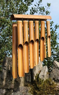 Fairtrade Large Double Bamboo Wind Chime   Fair Trade Gift Store   Siiren