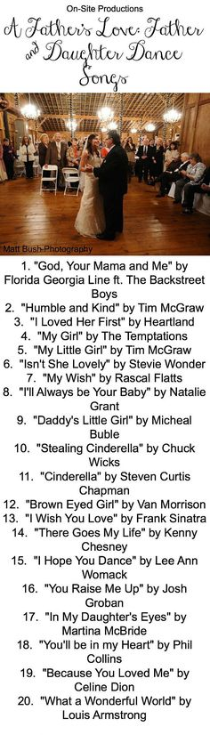 The perfect playlist for the Father & Daughter Dance has the perfect mix of modern and classic song to choose from!  I'm going to dance to #1 with my Dad!  Plus the link to the playlist is on the blog!