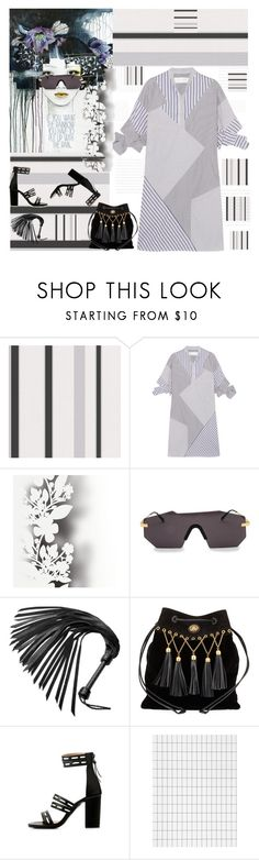 """Shirtdress"" by petalp ❤ liked on Polyvore featuring Victoria, Victoria Beckham, Élitis, Glassing, Miu Miu, ferm LIVING and ootd"