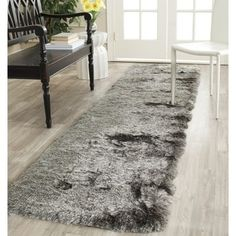 Shop for Safavieh Handmade Silken Glam Paris Shag Silver Polyester Runner (2'3 x 12'). Get free shipping at Overstock.com - Your Online Home Decor Outlet Store! Get 5% in rewards with Club O! - 15703409