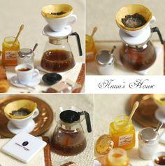 filtered coffee, honey, sugar - Nunu's House