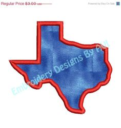 SALE 65% off Texas State Applique Machine Embroidery Designs 4x4 & 5x7 Instant Download Sale