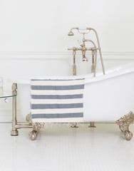 Hand-spun & Hand-dyed Cotton Towel, Fair Trade   Gray Striped – The Little Market