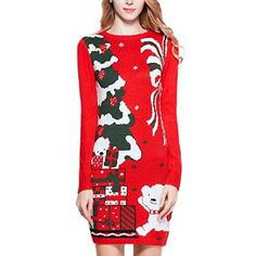 #Christmas Purchase for V28 Women Christmas Embroidered Knitted Dress Sweater Jumper (M, Bear Red) for Christmas Gifts Idea Sale . Have you contemplated searching inside the packages as well as clearance aspects of your selected merchants? You will discover numerous discounts as well as undetected stylish Christmas garments  desi...
